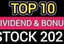 Top 10 dividend and bonus giving stock in 2021